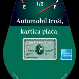 AUTOMOBIL TROŠI, KARTICA PLAĆA! American Express