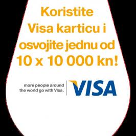 Koristite Visa karticu i osvojite jednu od 10 x 10 000 kn !!!!!